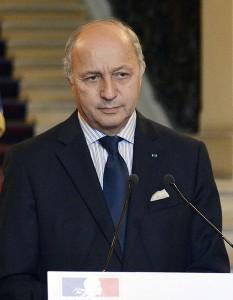 Fabius, le porte-parole de la France à l'étranger, y compris sur le territoire national. FV